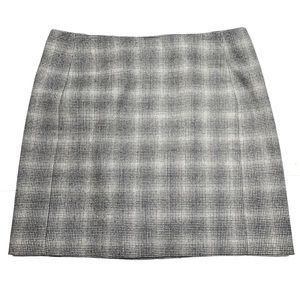 Banana Republic Wool Blend Mini Skirt Gray Size 10